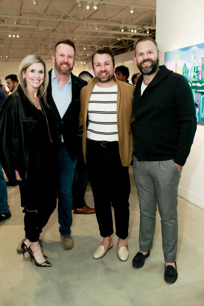 Maura and Dan Houchard with Javier Burkles and Mason McCleskey