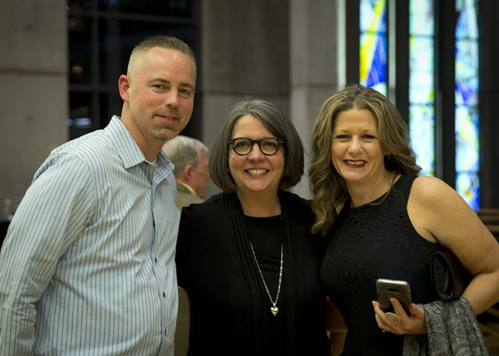 Jeff Bass, Concert for Kindness Co-Founder Teresa Berg, and Heather Bass