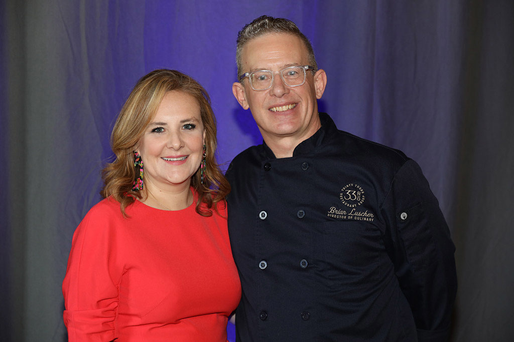 Stewpot Alliance President Emily Turner and Chef Brian C. Luscher