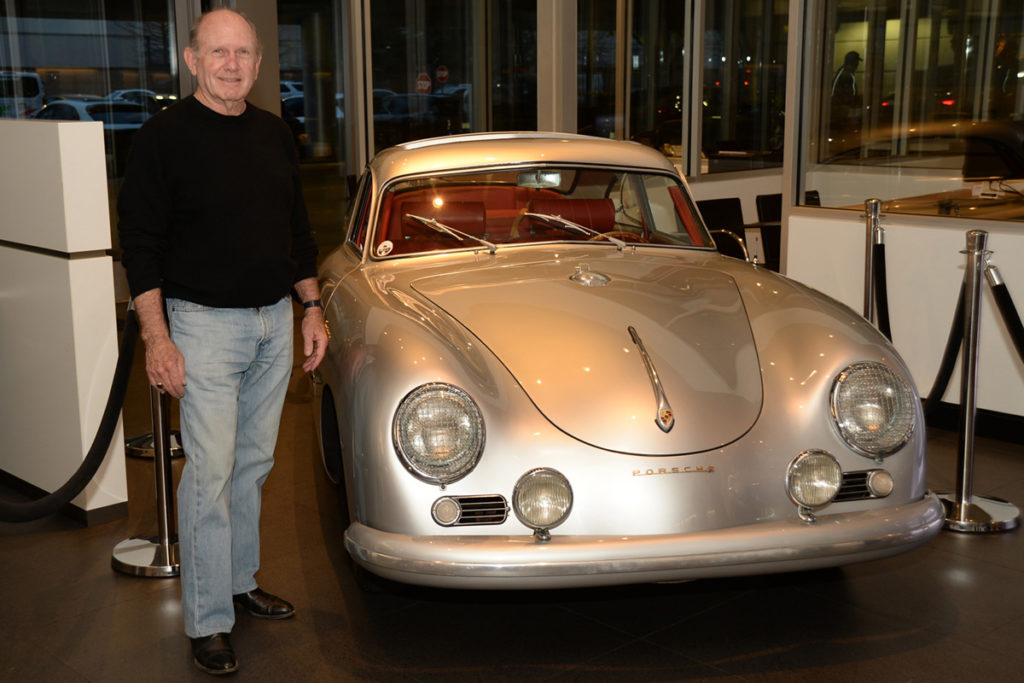 Jack Griffin with his 1955 Porsche Continental 356