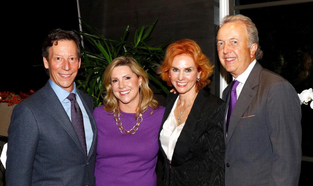 Clark Knippers and Kersten Rettig, gala chairs; Jolie Humphrey, 2019-2020 President, AWARE; Bart Humphrey.