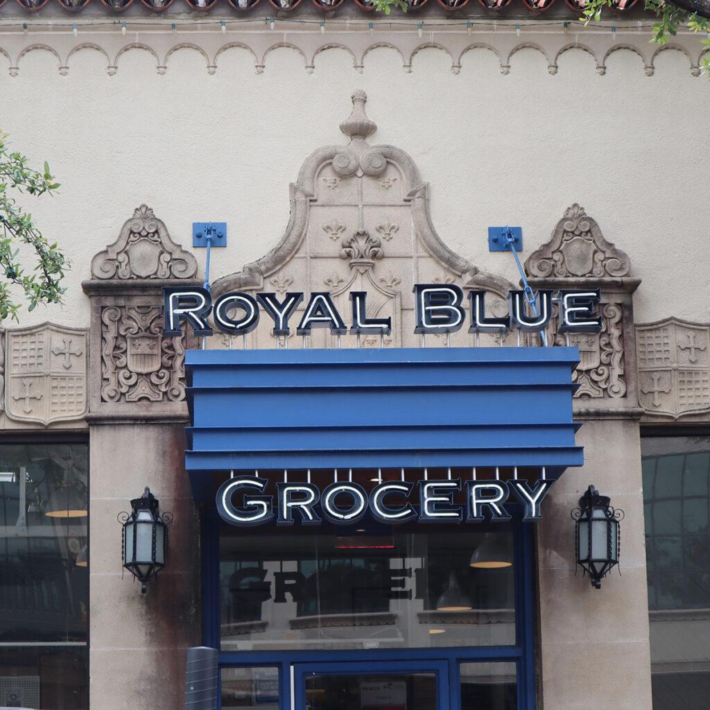 R - Royal Blue Grocery