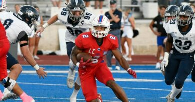 Parish Pounds Liberty in District Opener